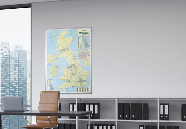 Buy UK Wall Maps and Postcode Maps Online at Map Marketing