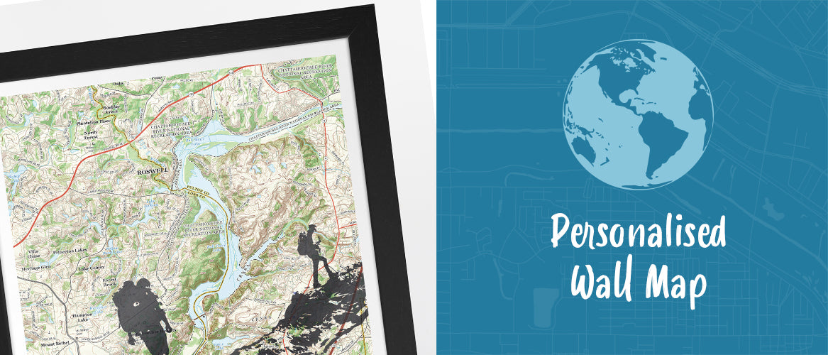 Personalised Wall Maps