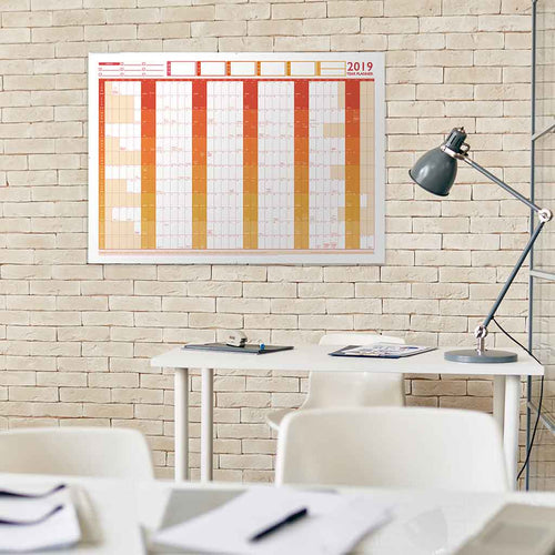 2019 Large Year Wall Chart & Holiday Planner