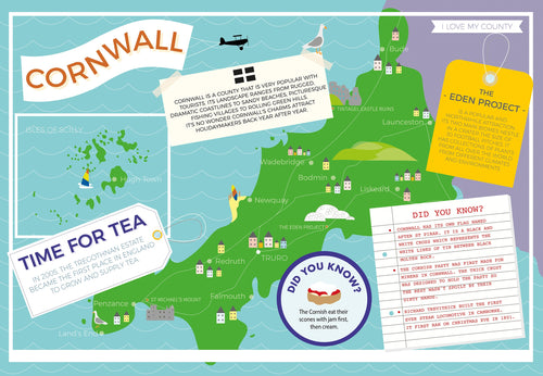 Cornwall - I Love My County 400 piece Jigsaw Puzzle