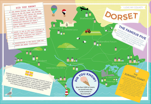 Dorset - I Love My County 400 piece Jigsaw Puzzle