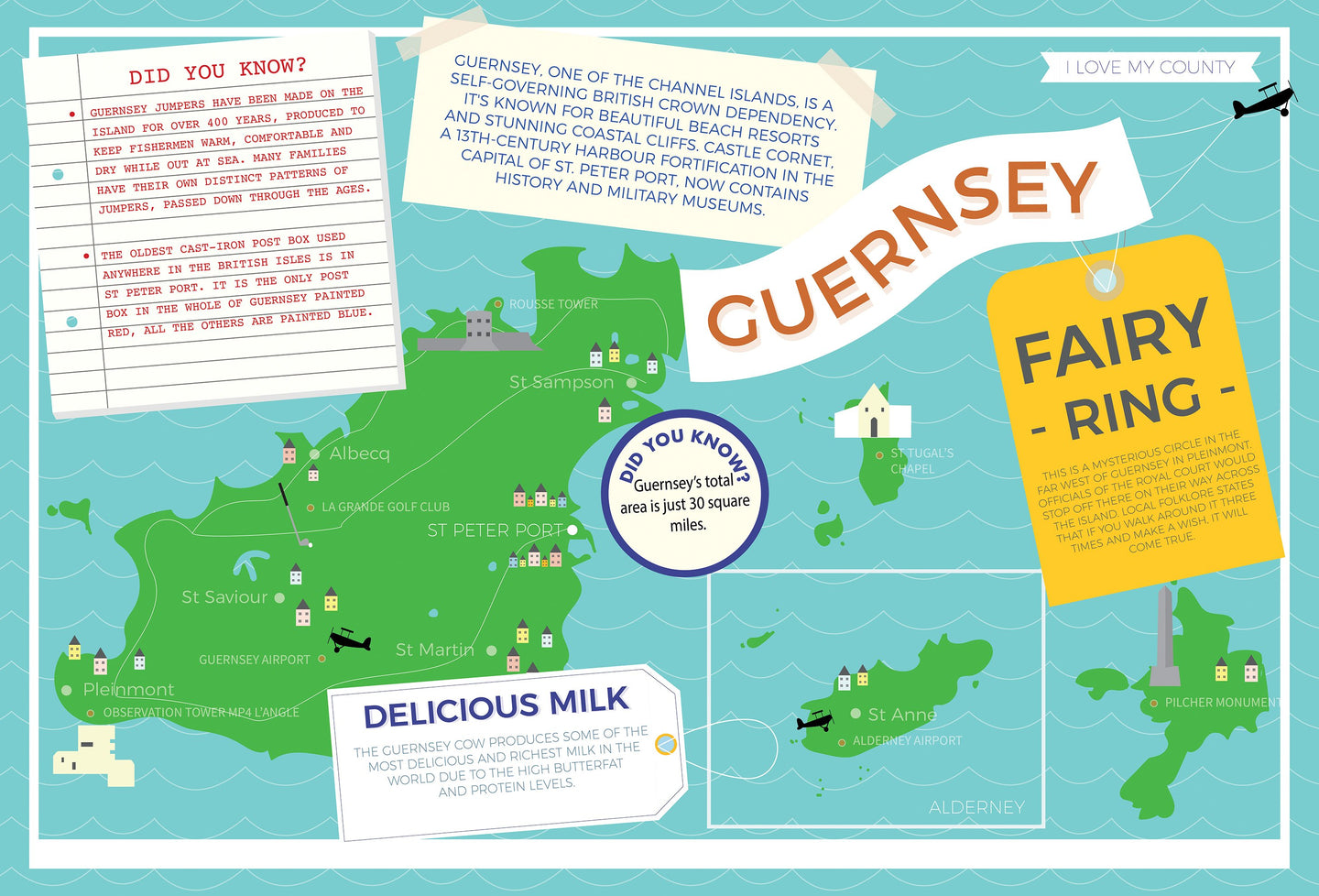 Guernsey - I Love My County 400 Piece Jigsaw Puzzle
