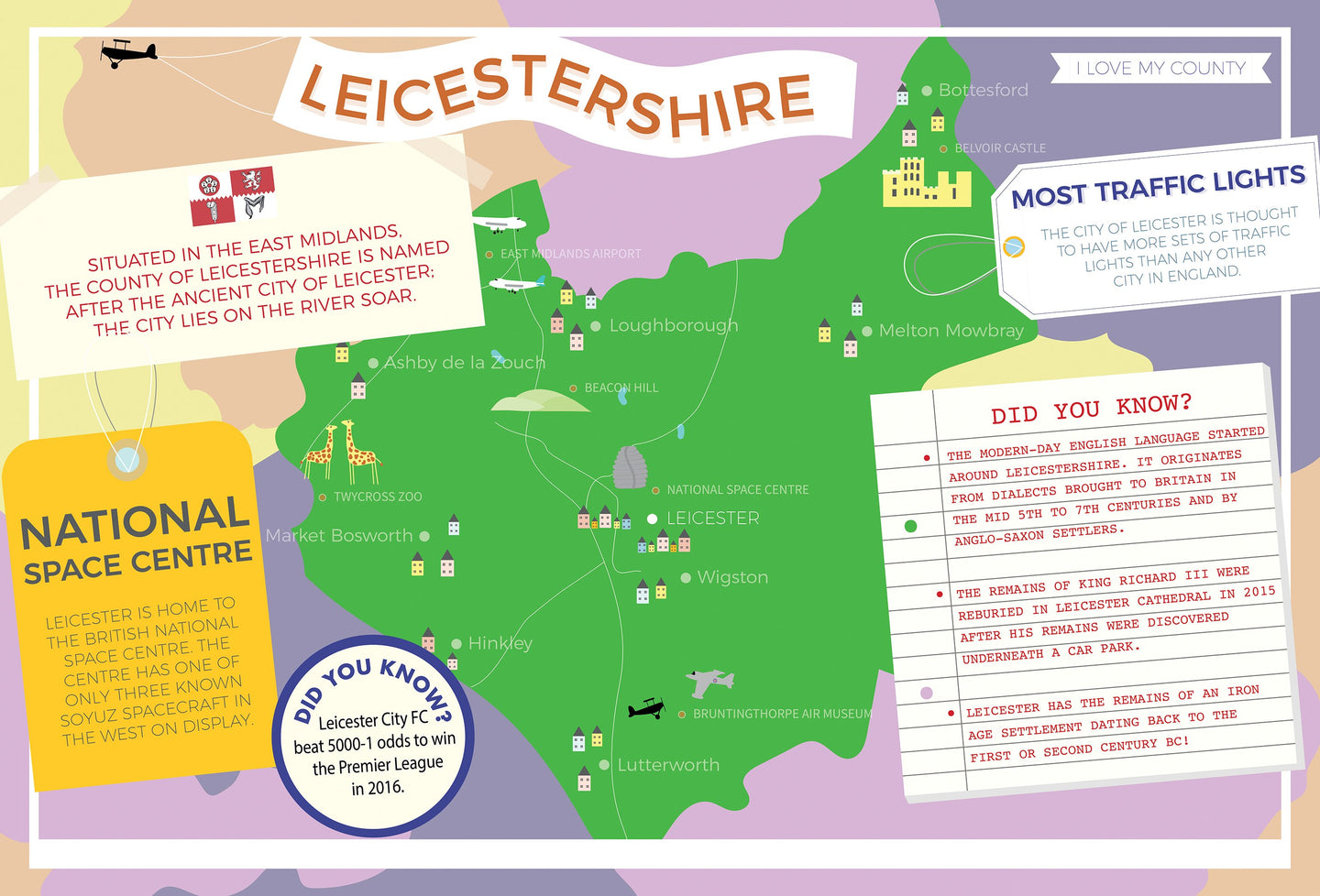 Leicestershire - I Love My County 400 Piece Jigsaw Puzzle