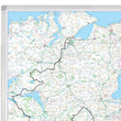 Northern Ireland Road Map  - Laminated Wall Map of Northern Ireland