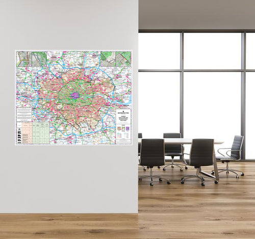 2019 London Low Emission Zone Wall Map (LEZ and ULEZ)