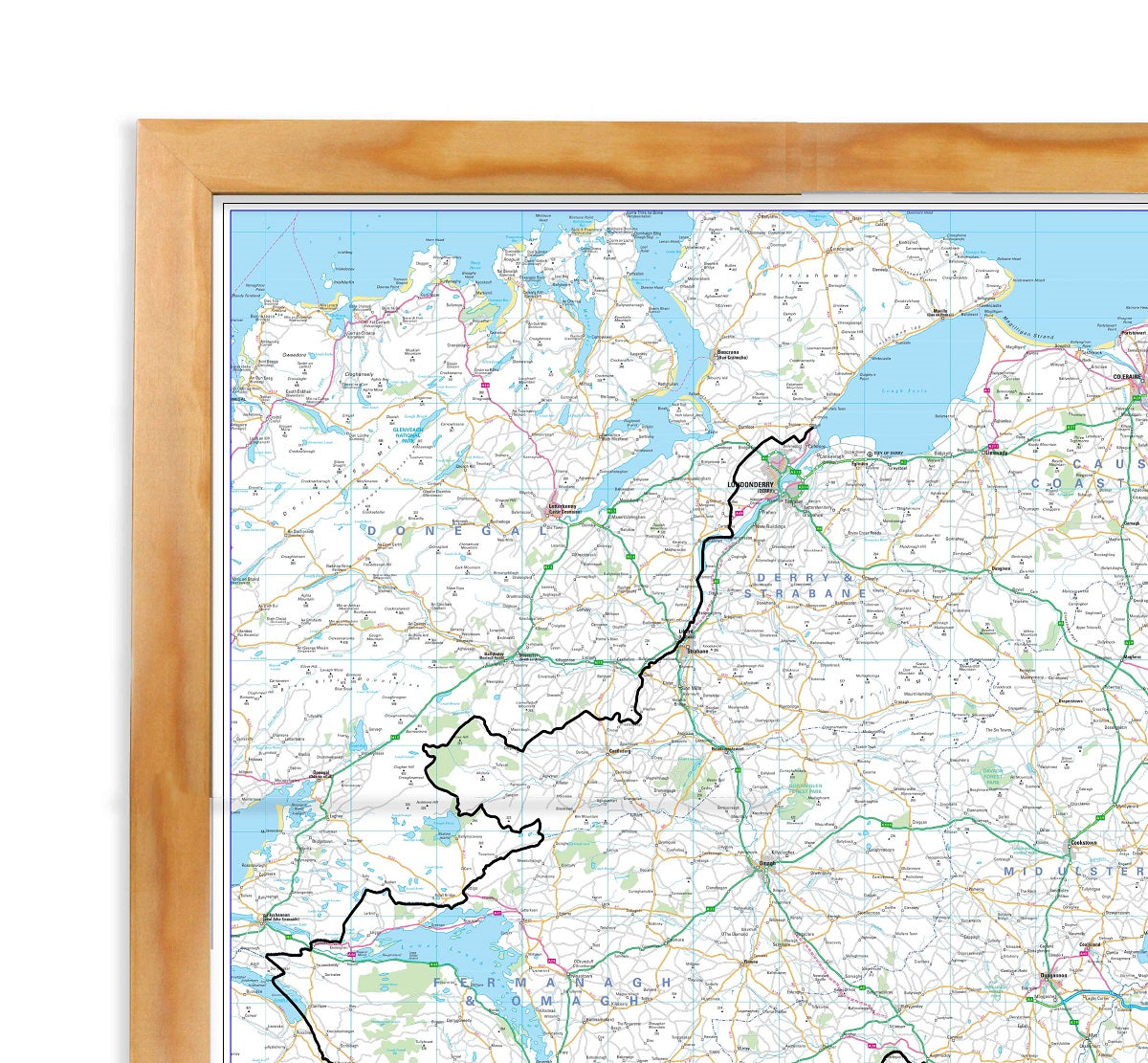 Northern Ireland Road Map - Wall Map of Northern Ireland on map of northeast us, map of sweden, map of ring of kerry, map of denmark, map of london, map of dublin, map of skellig islands, map of prince edward island, map of united states, map of united kingdom, map of eastern hemisphere, map of netherlands, map of japan, map of hong kong, map of european countries, map of scotland, map of british isles, map of britain, map of yugoslavia, map of philippines,