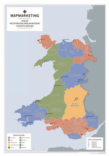 Wales Parliamentary Map
