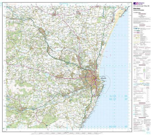 Folded Maps - Aberdeen Inverurie Landranger Map - Ordnance Survey