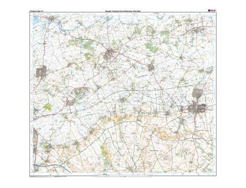 Folded Maps - Abingdon Wantage Explorer Map - Ordnance Survey