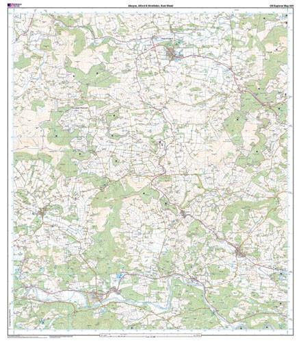 Folded Maps - Aboyne Alford Strathdon Explorer Map - Ordnance Survey