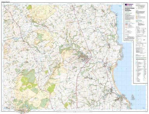 Folded Maps - Alnwick Amble Craster Explorer Map - Ordnance Survey