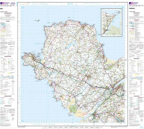 Folded Maps - Anglesey Landranger Map - Ordnance Survey
