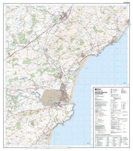 Folded Maps - Arbroath Montrose Carnoustie Explorer Map - Ordnance Survey