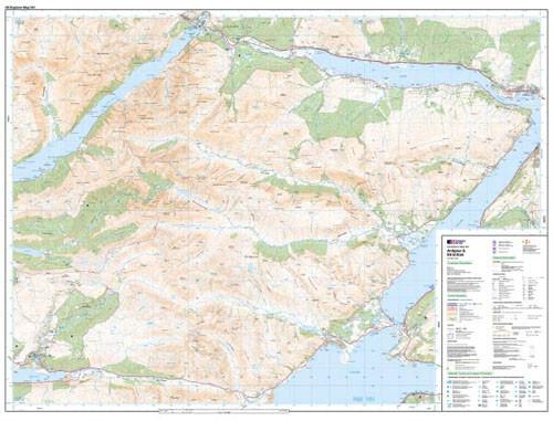 Folded Maps - Ardgour Strontian Explorer Map - Ordnance Survey