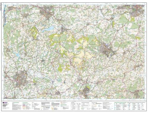 Folded Maps - Ashdown Forest Tunbridge Wells Explorer Map - Ordnance Survey
