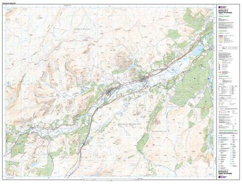 Folded Maps - Badenoch Strathspey Explorer Map - Ordnance Survey