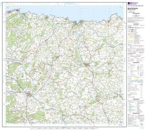 Folded Maps - Banff Huntly Portsoy Turriff Landranger Map - Ordnance Survey