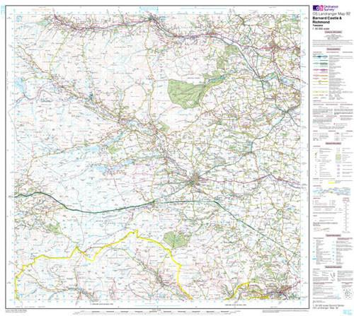 Folded Maps - Barnard Castle Landranger Map - Ordnance Survey