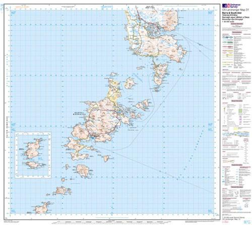 Folded Maps - Barra South Uist Vatersay Landranger Map - Ordnance Survey