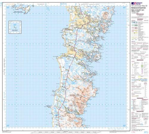 Folded Maps - Benbecula South Uist Landranger Map - Ordnance Survey