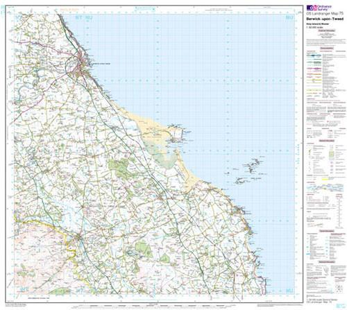 Folded Maps - Berwick-upon-Tweed Landranger Map - Ordnance Survey