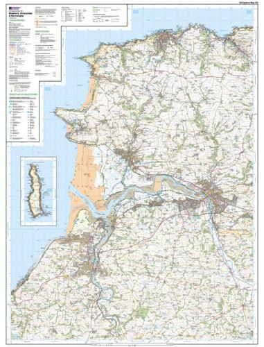 Folded Maps - Bideford Ilfracombe Barnstaple Explorer Map - Ordnance Survey