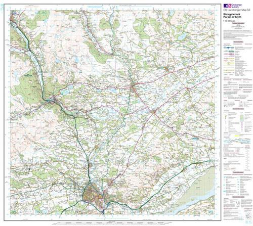 Folded Maps - Blairgowrie Forest Of Alyth Landranger Map - Ordnance Survey