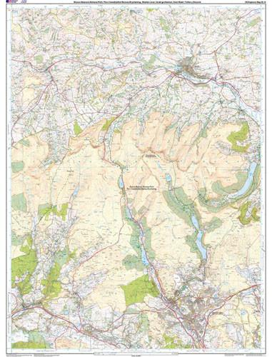 Folded Maps - Brecon Beacons Western Central Explorer Map - Ordnance Survey