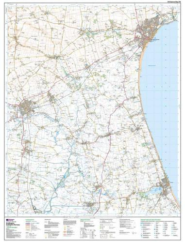 Folded Maps - Bridlington Driffield Explorer Map - Ordnance Survey