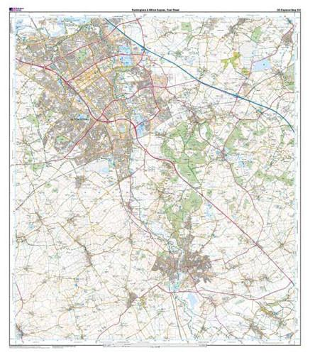 Folded Maps - Buckingham Milton Keynes Explorer Map - Ordnance Survey