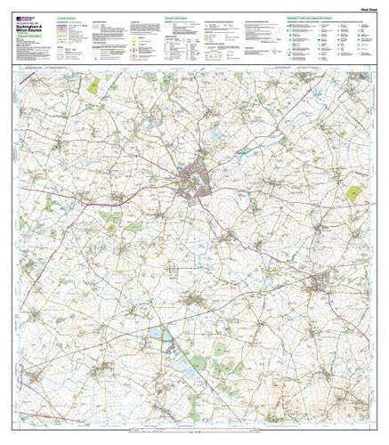 Buckingham Milton Keynes Explorer Map Ordnance Survey Map Marketing