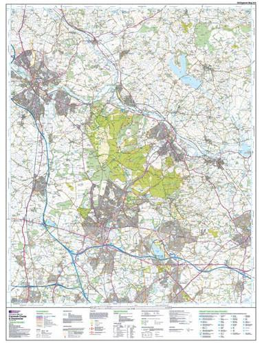 Folded Maps - Cannock Chase Chasewater Explorer Map - Ordnance Survey