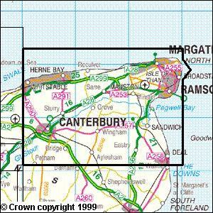 Canterbury The Isle Of Thanet Explorer Map Ordnance Survey