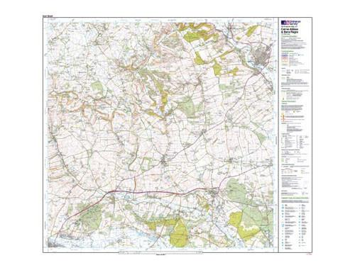 Folded Maps - Cerne Abbas Bere Regis Blandford Explorer Map - Ordnance Survey