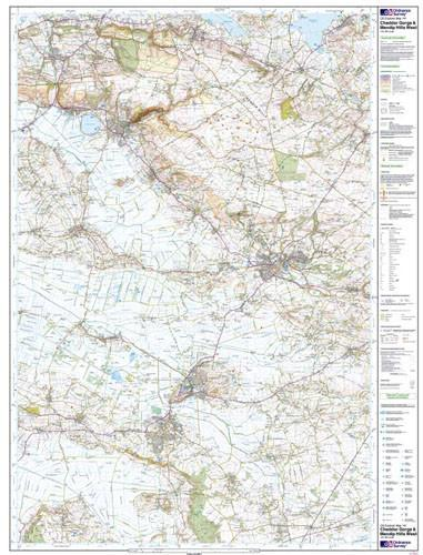 Folded Maps - Cheddar Gorge Mendip Hills West Explorer Map - Ordnance Survey