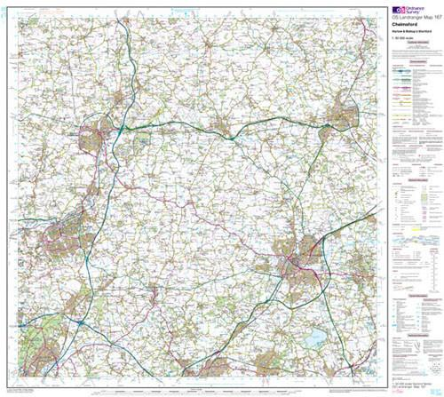Folded Maps - Chelmsford Harlow Landranger Map - Ordnance Survey
