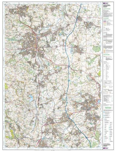 Folded Maps - Chesterfield Alfreton Explorer Map - Ordnance Survey