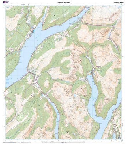 Folded Maps - Cowal East Dunoon Inveraray Explorer Map - Ordnance Survey