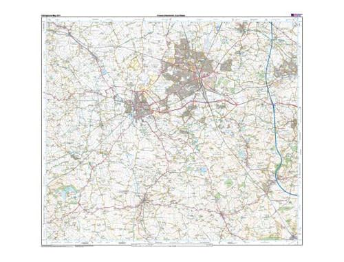 Folded Maps - Crewe Nantwich Whitchurch Explorer Map - Ordnance Survey