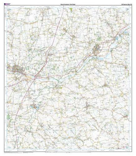 Folded Maps - Diss Harleston Explorer Map - Ordnance Survey
