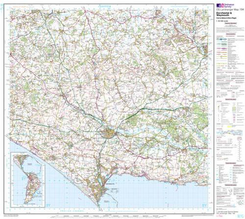 Folded Maps - Dorchester Weymouth Landranger Map - Ordnance Survey