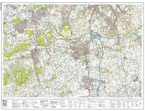 Folded Maps - Dorking Box Hill Reigate Explorer Map - Ordnance Survey
