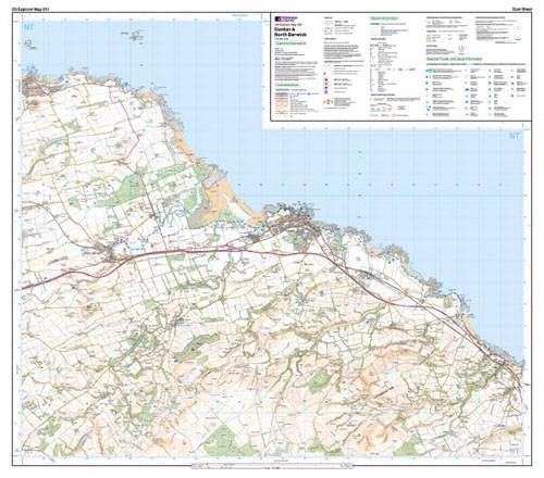Folded Maps - Dunbar North Berwick Explorer Map - Ordnance Survey