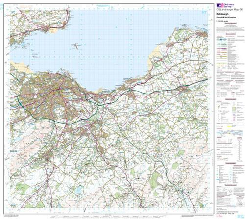 Folded Maps - Edinburgh Penicuik Landranger Map - Ordnance Survey