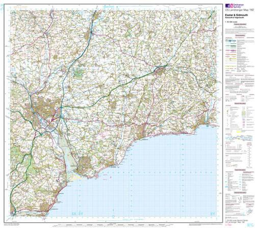 Folded Maps - Exeter Sidmouth Exmouth Landranger Map - Ordnance Survey