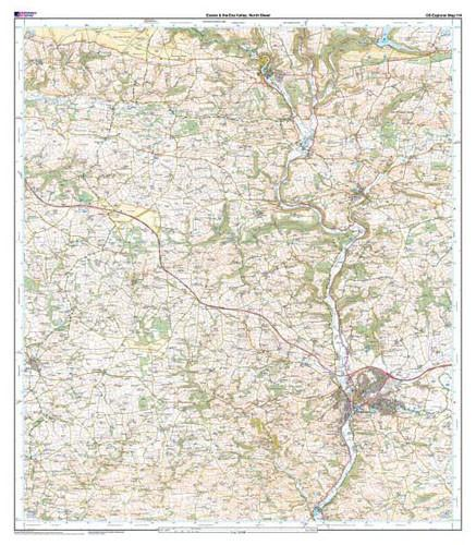 Folded Maps - Exeter The Exe Valley Explorer Map - Ordnance Survey