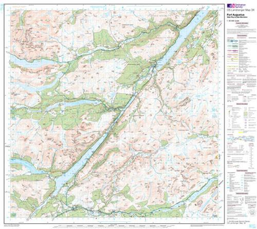 Folded Maps - Fort Augustus Glen Roy Landranger Map - Ordnance Survey