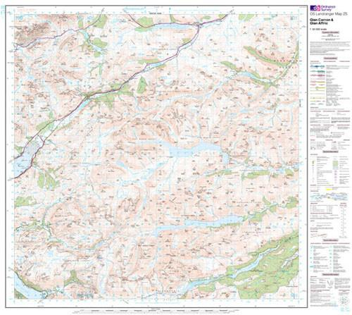 Folded Maps - Glen Carron Glen Affric Landranger Map - Ordnance Survey