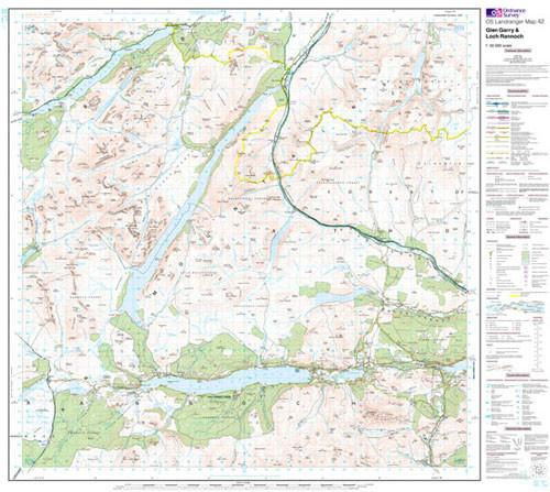 Folded Maps - Glen Garry Loch Rannoch Landranger Map - Ordnance Survey