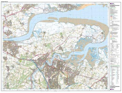 Folded Maps - Gravesend Rochester Explorer Map - Ordnance Survey